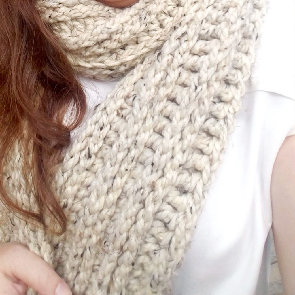 knit look crochet scarf