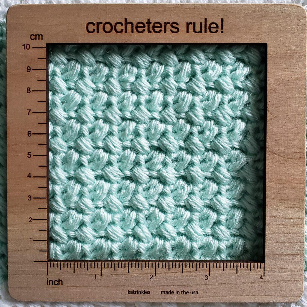 modern crochet baby blanket gauge