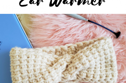 tunisian crochet cable ear warmer