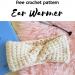 tunisian crochet cable ear warmer