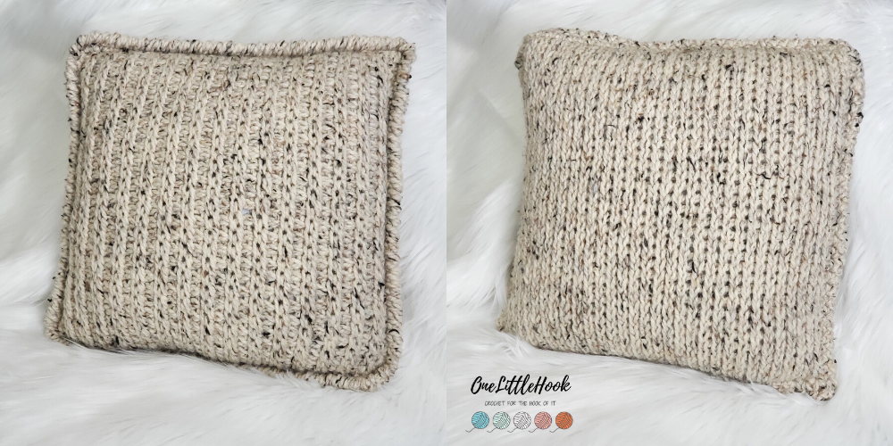 tunisian crochet pillow cover