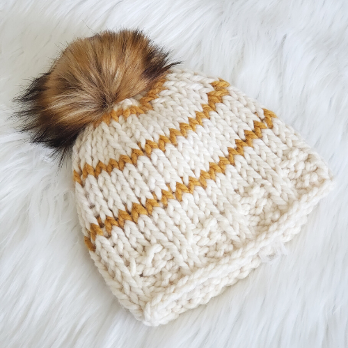 tunisian knit stitch beanie