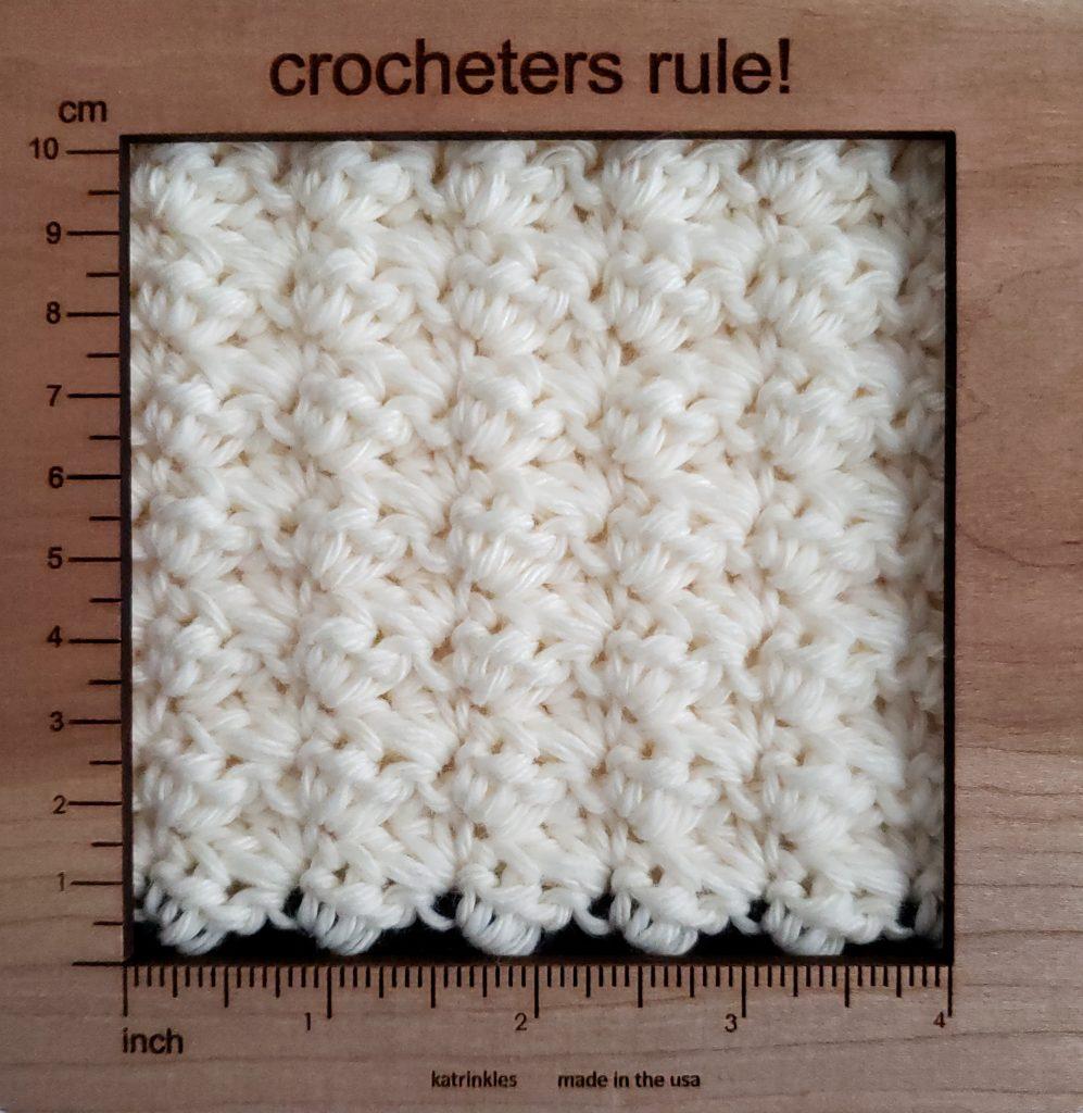 baby cocoon crochet pattern gauge