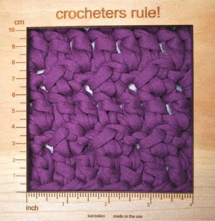 crochet table runner gauge