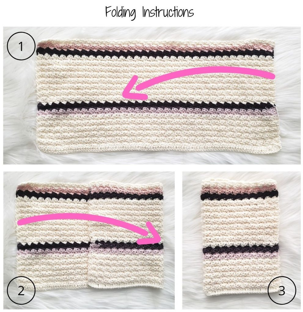 baby cocoon crochet pattern folding instructions