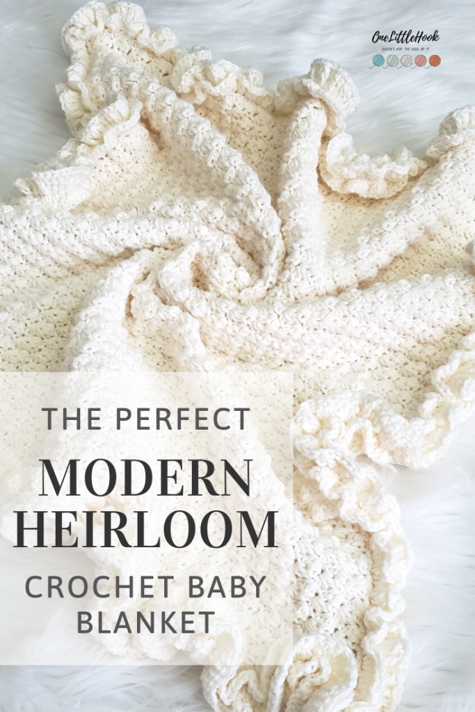 modern heirloom crochet baby blanket