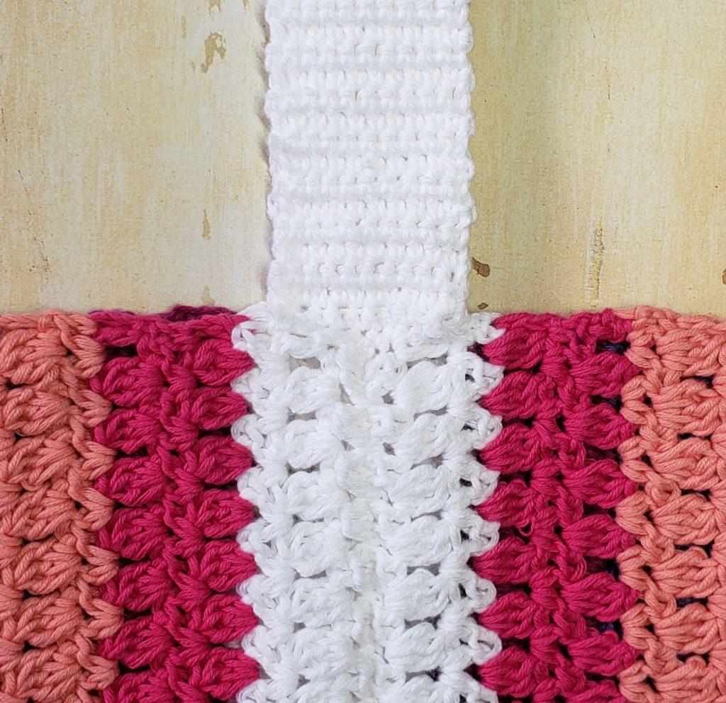 crossbody tote crochet pattern strap seam