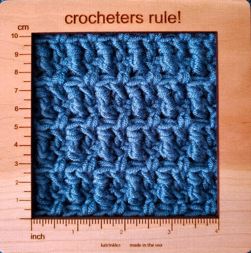 housewarming crochet throw gauge