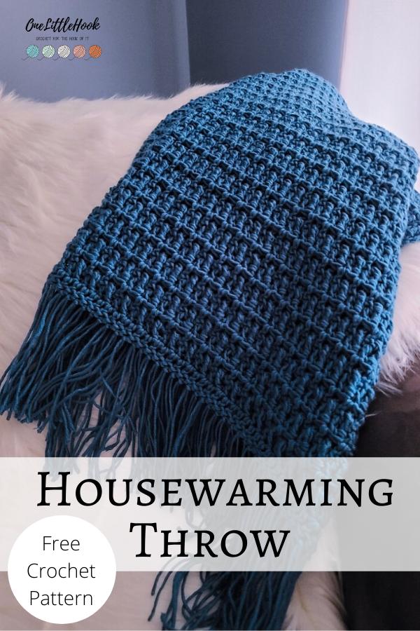 housewarming crochet throw