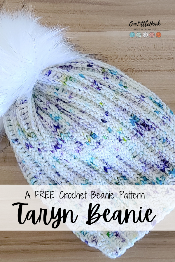 knit look crochet beanie