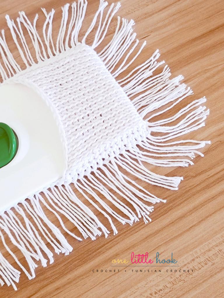 Reusable Dust Mop Cover Crochet Pattern